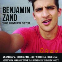 Next week's guest speaker at Journalism at University of Sussex - Benjamin Zand