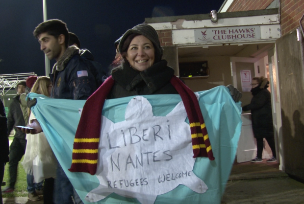 Daniela Conti shows her support at Whitehawk FC